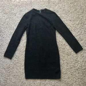 Top shop long sleeve grey sweater dress size 2